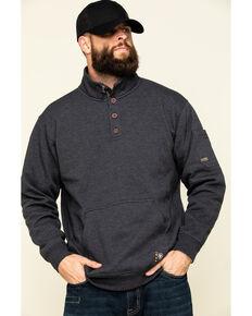 Ariat Men's Charcoal Heather Rebar Overtime Fleece Work Pullover Sweatshirt , Charcoal, hi-res