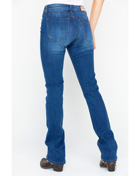 Grace In LA Women's Medium-Wash Easy Boot Cut Jeans, Indigo, hi-res