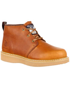 Georgia Boot Men's Wedge Chukka Work Shoes - Composite Toe, Brown, hi-res