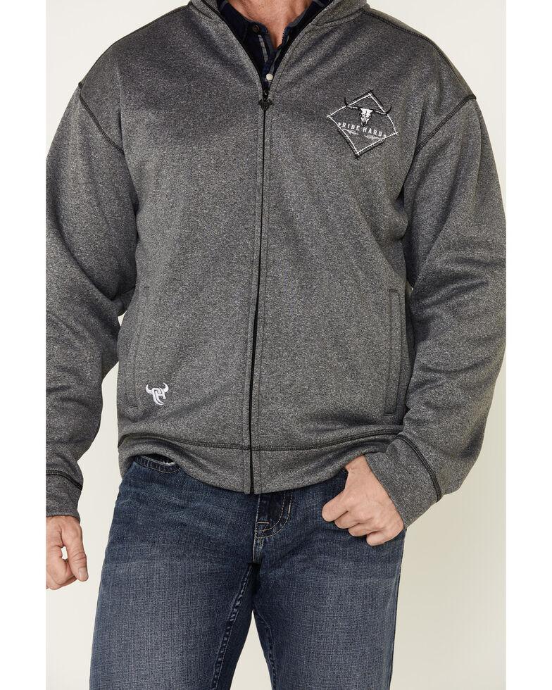 Cowboy Hardware Men's Grey Microfleece Zip-Up Jacket , Grey, hi-res