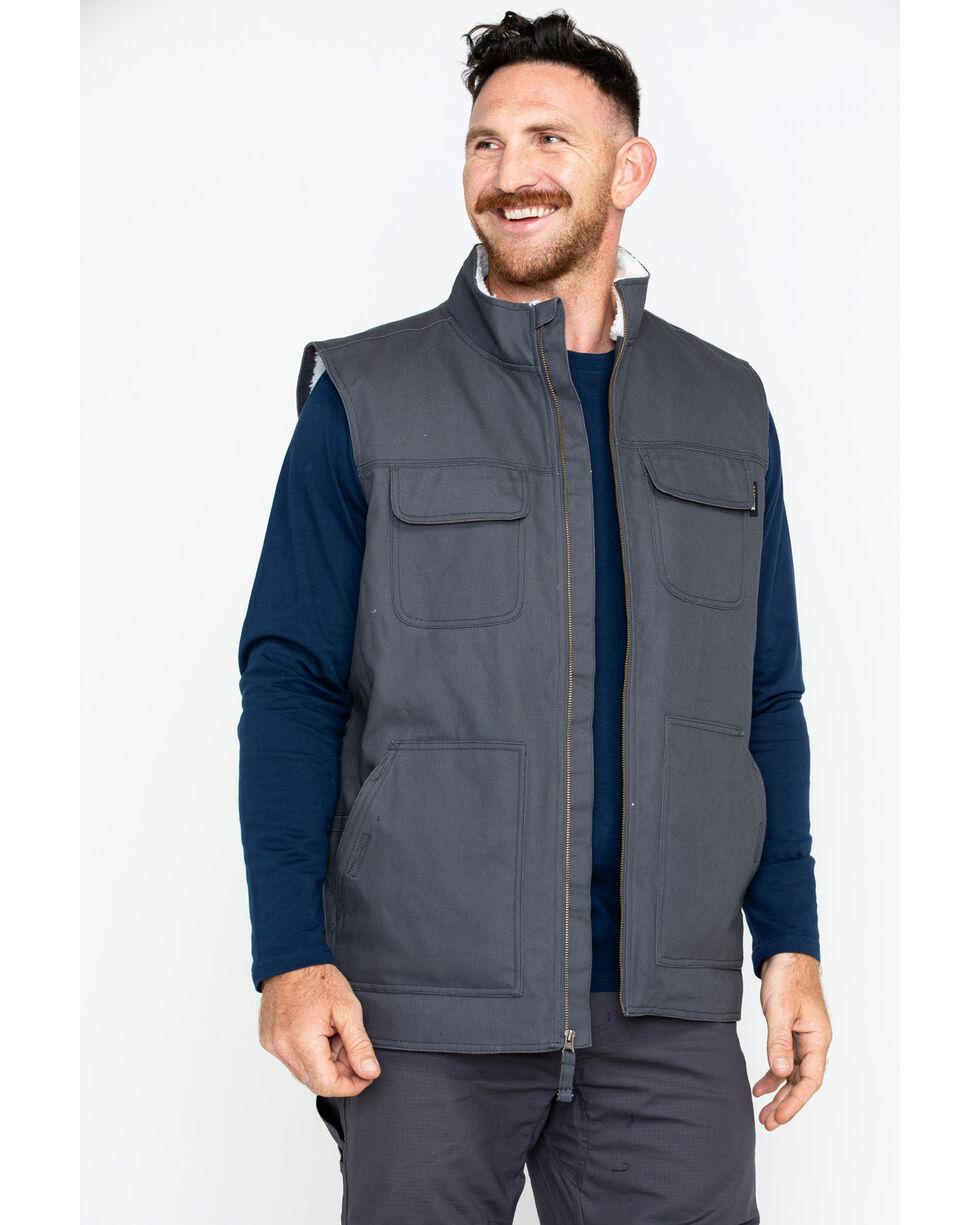 Hawx® Men's Canvas Work Vest, Charcoal, hi-res