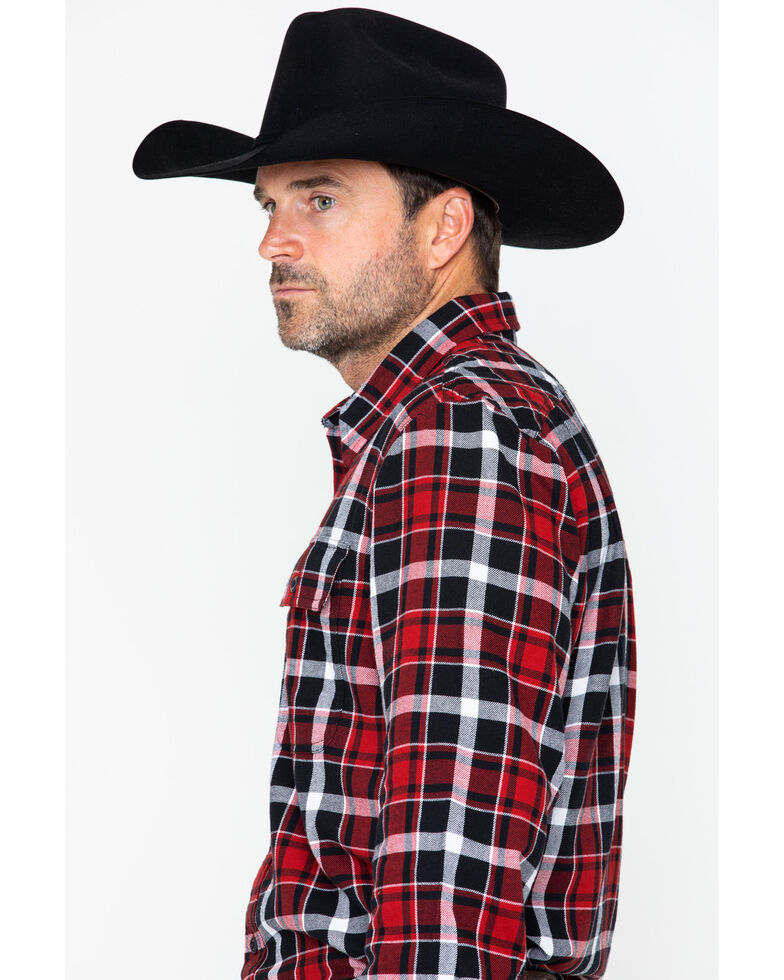 Filson Men's Scout Plaid Long Sleeve Western Shirt, Red, hi-res