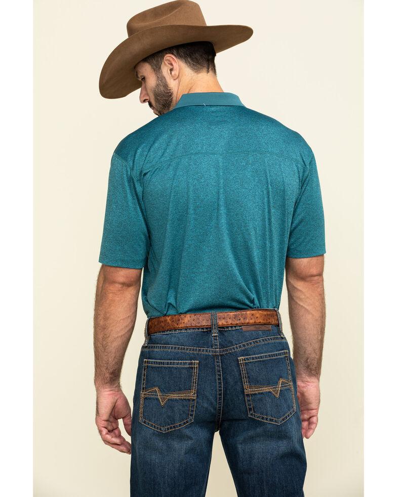 Cody James Core Men's Blue Tonal Short Sleeve Polo Shirt , Blue, hi-res