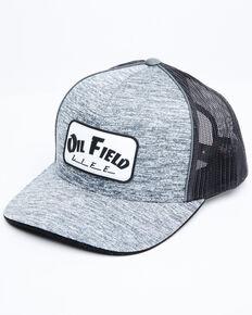Oil Field Hats Men's Heather Grey Patch Mesh Ball Cap , Heather Grey, hi-res