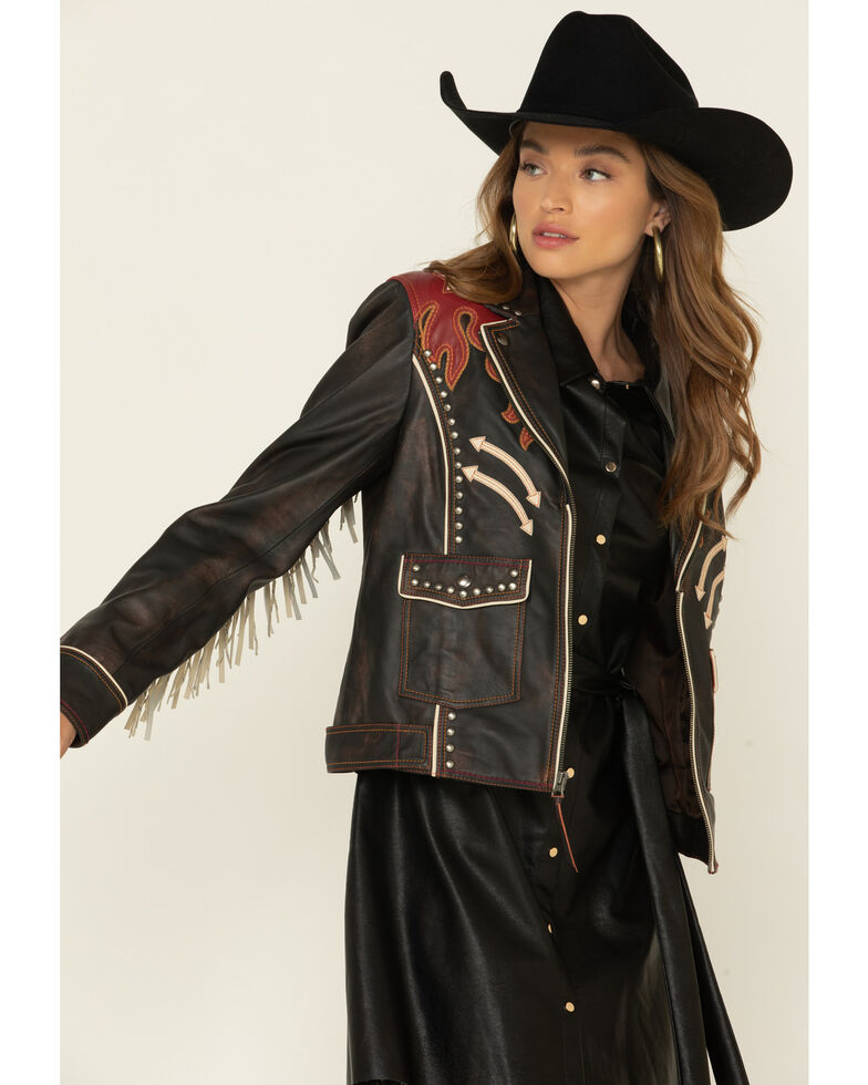 Double D Ranchwear Women's Ring Of Fire Jacket , Black, hi-res