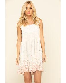 Coco + Jaimeson Women's Floral Peasant Babydoll Dress, Ivory, hi-res