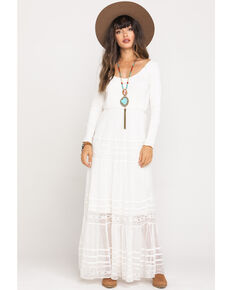 Free People Women's Earth Angel Maxi Dress, Ivory, hi-res