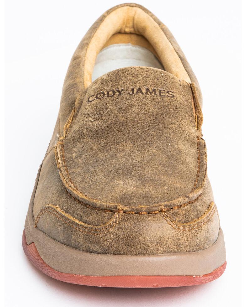 Cody James Men's Tan Oxford Slip-On Shoes - Moc Toe, Tan, hi-res