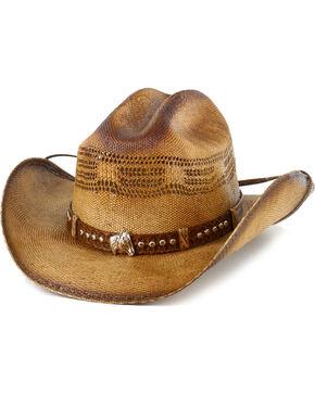 Bullhide Girls' Natural Wheel Horse Western Hat , Natural, hi-res