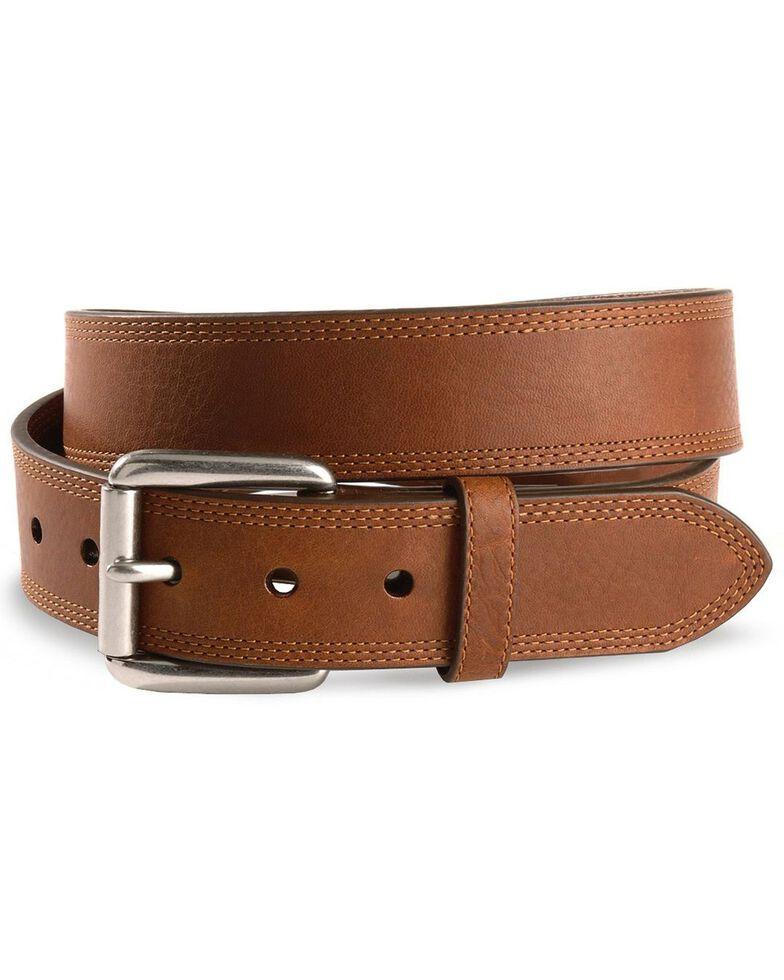Ariat Triple Stitched Leather Belt - Reg & Big, Sunshine, hi-res