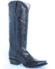 Miss Macie Women's Pitty Pat Western Boots - Snip Toe, Black, hi-res