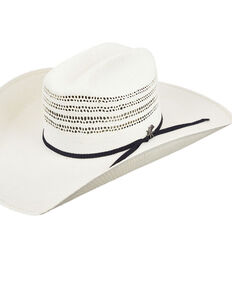 Bailey Natural Caporal Bangora Western Straw Hat , Natural, hi-res