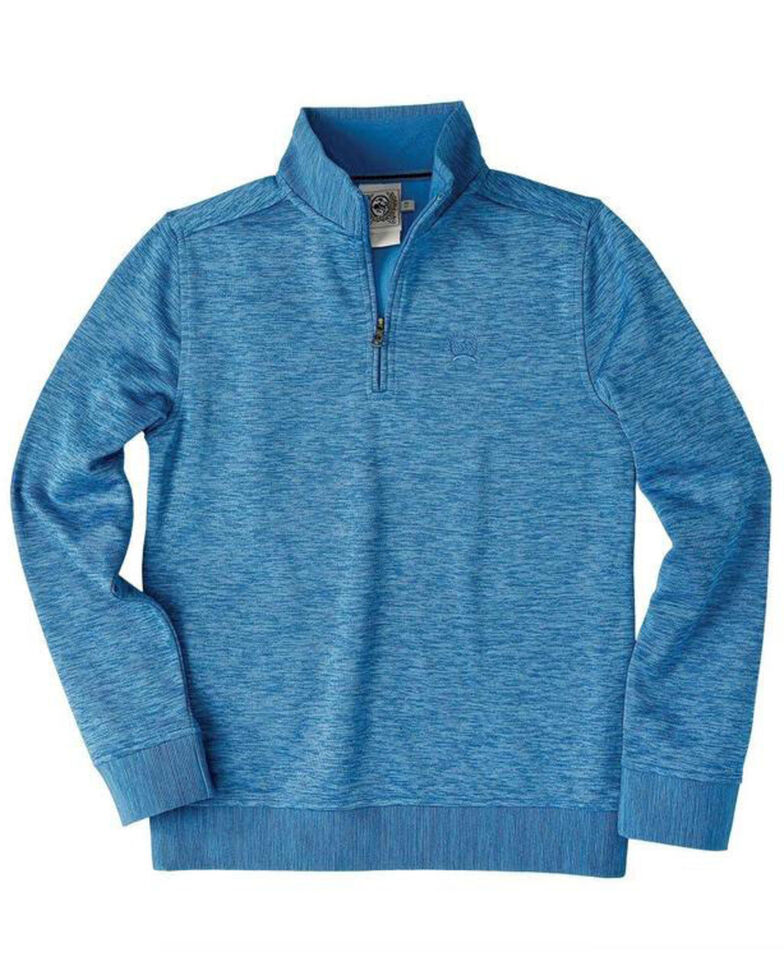 Cinch Boys' Heather Blue 1/4 Zip Up Pullover , Heather Blue, hi-res