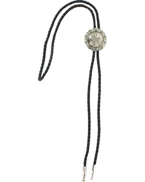 Cody James Men's Filigree Concho Bolo Tie, Silver, hi-res