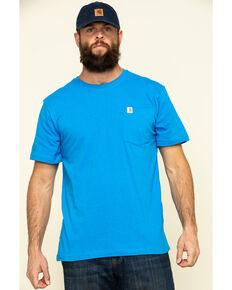 Carhartt Men's Bolt Blue Solid Relaxed Short Sleeve Work T-Shirt , Blue, hi-res