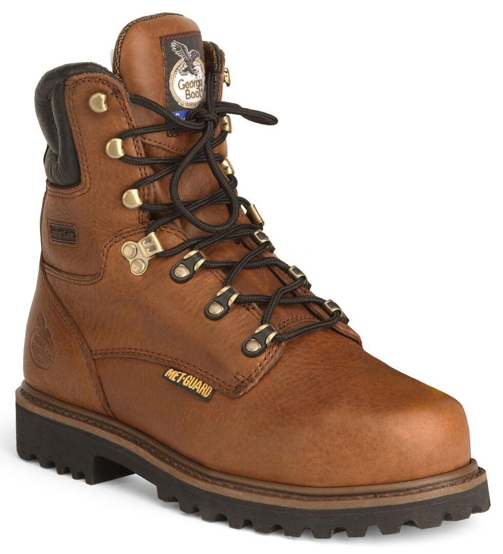 "Georgia 8"" Lace-Up Work Boots - Steel Toe, Briar, hi-res"