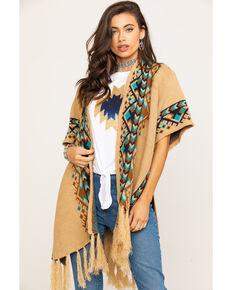 Outback Trading Co. Women's Jillian Serape Cardigan, Oatmeal, hi-res