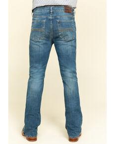 Cody James Men's Hawken Medium Wash Crosshatch Stretch Slim Bootcut Jeans , Blue, hi-res