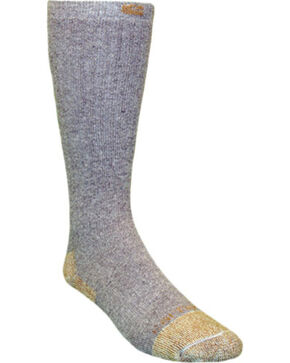 Carhartt Grey Full Cushion Steel-Toe Cotton Work Boot Socks - 2 Pack, Grey, hi-res