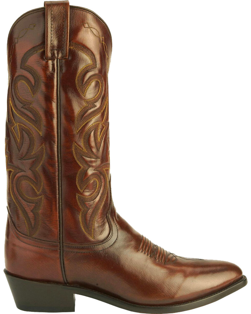 Dan Post Mignon Leather Cowboy Boots - Medium Toe, Tan, hi-res