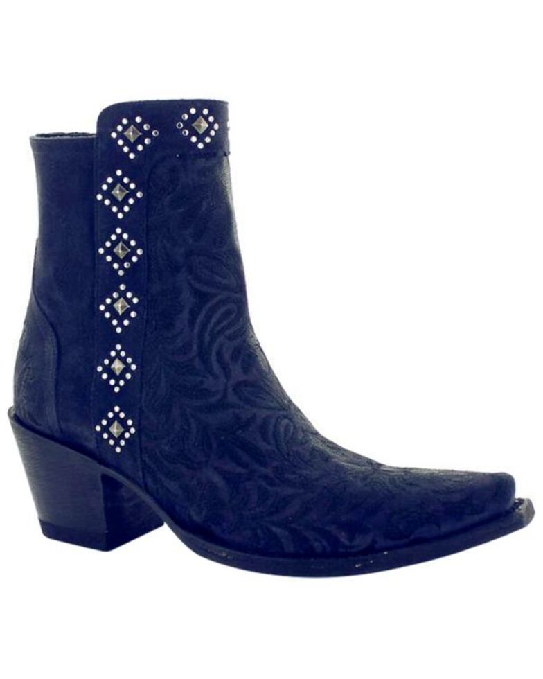 ba330227c4ebb Zoomed Image Old Gringo Women's Wink Dark Blue Booties - Snip Toe , Blue,  hi-res