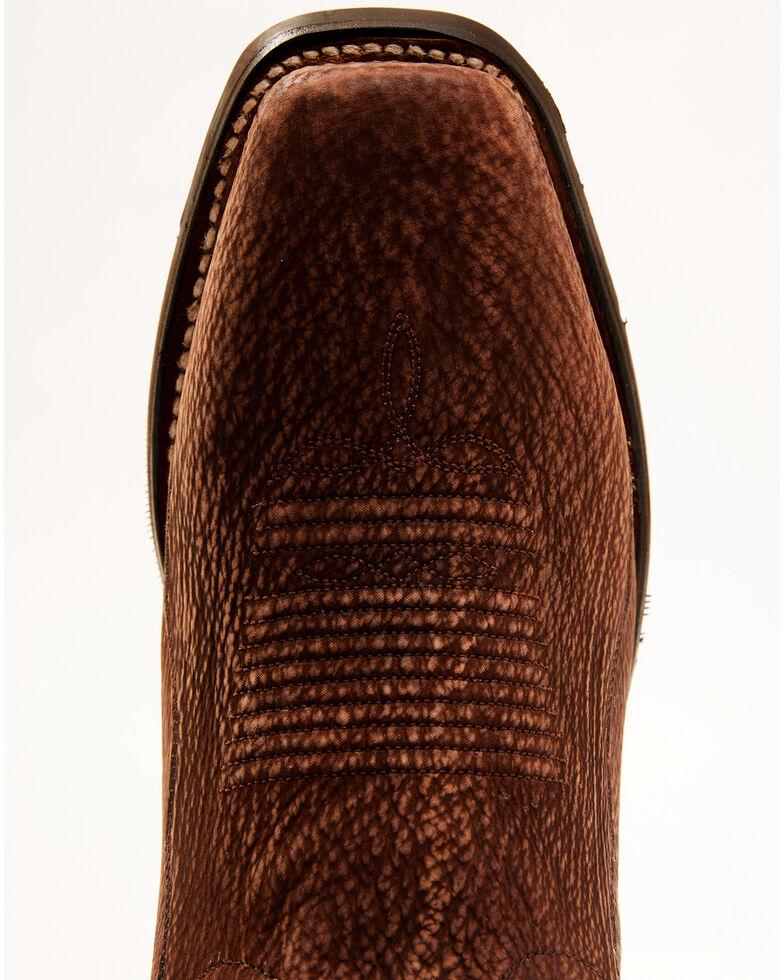 Dan Post Men's Exotic Shark Western Boots - Square Toe, Cognac, hi-res