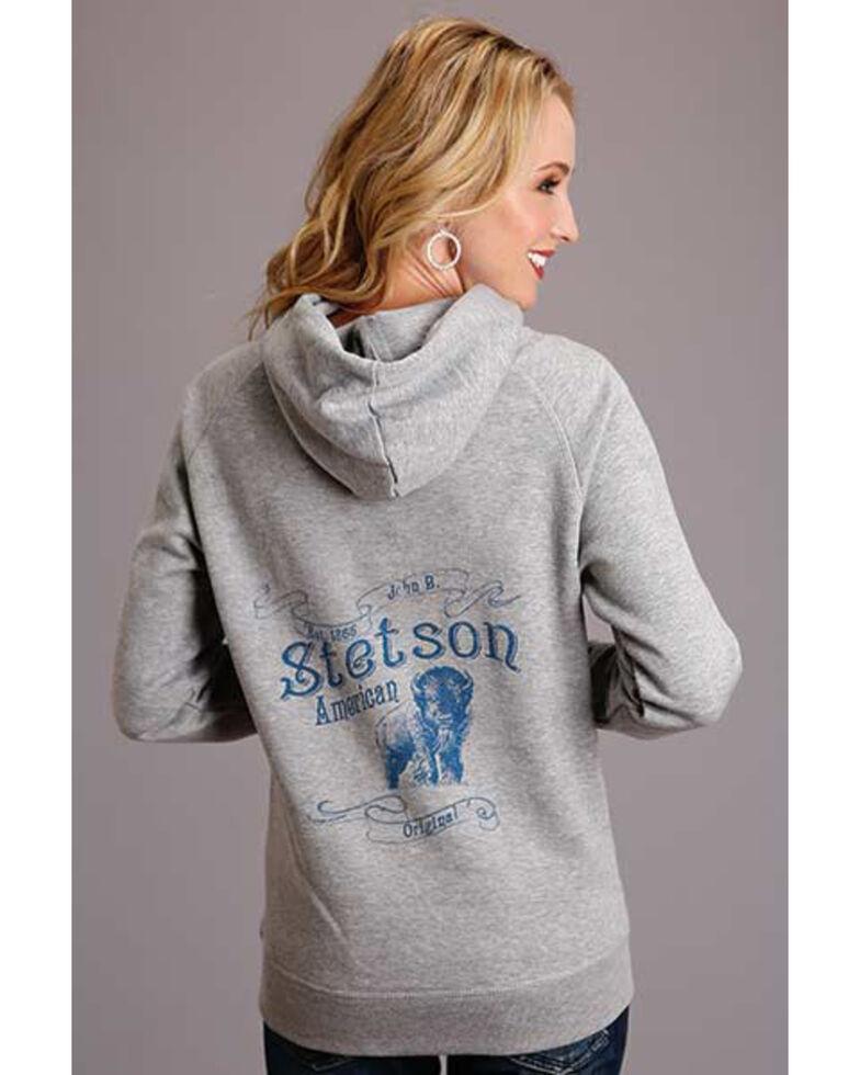 Stetson Women's Buffalo Sweatshirt, Grey, hi-res