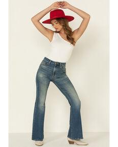 Lee Women's Distance High Rise Flare Jeans , Blue, hi-res