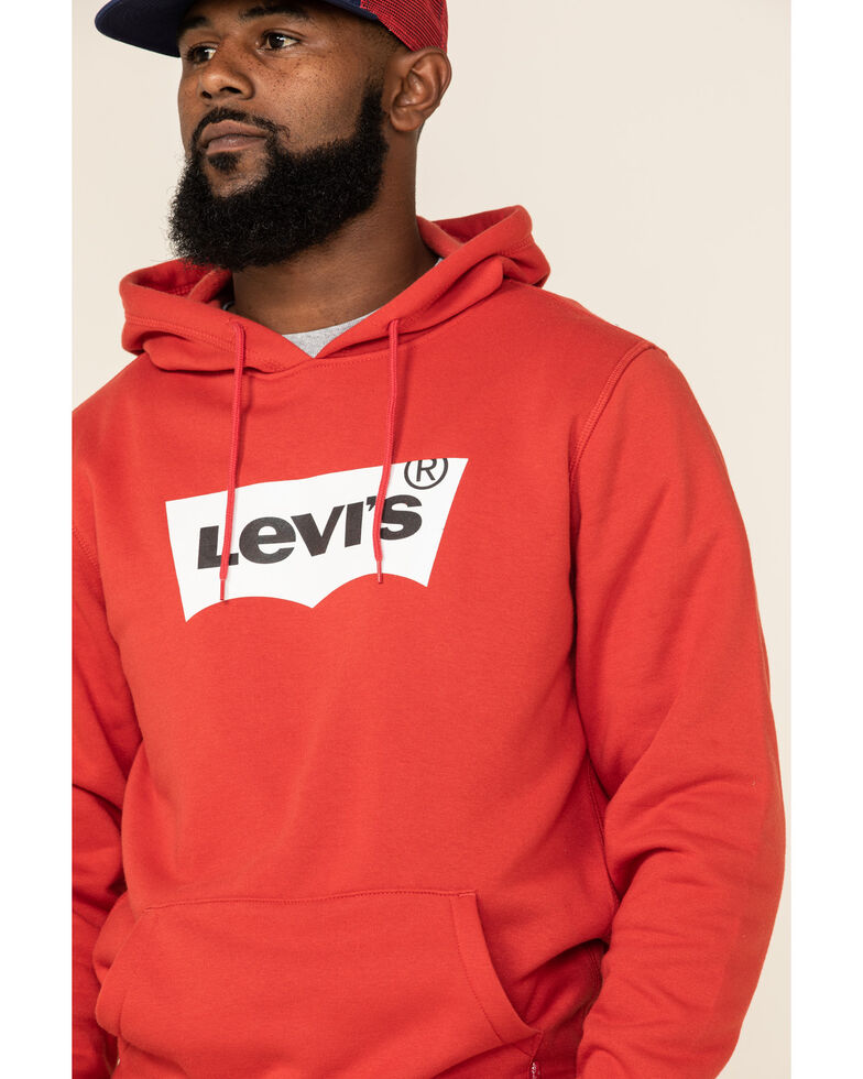 Levi's Men's Red Batwing Logo Graphic Hooded Sweatshirt , Red, hi-res