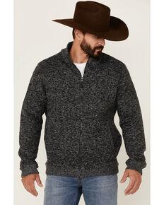 Flag & Anthem Men's Grey Rhineland Marled Zip-Front Flannel Sweatshirt , Grey, hi-res