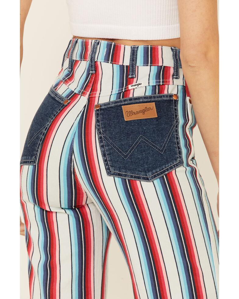 Wrangler Women's Rainbow Stripe Wanderer Flare Jeans, Multi, hi-res