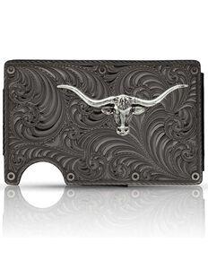 Montana Silversmiths Men's Montana Gunmetal Credit Card & Cash Case, Silver, hi-res