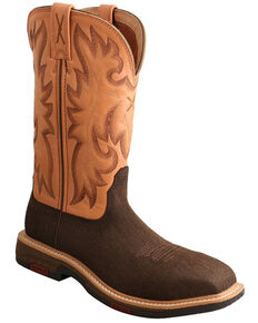 Twisted X Women's CellStretch Western Work Boots - Composite Toe, Brown, hi-res
