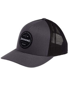 Browning Women's Grey Crescent Embroidered Patch Mesh Cap , Grey, hi-res