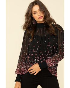 Ariat Women's Flower Fall Tunic , Black, hi-res