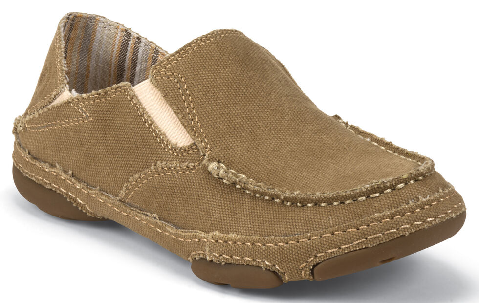 f4c97f9e9 Tony Lama Women's Winter Wheat 3R Casuals Canvas Shoes - Moc Toe