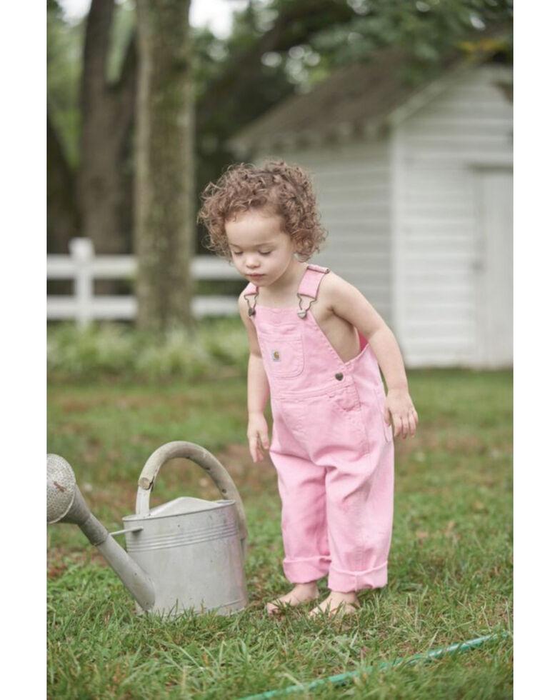 Carhartt Toddlers Girls' Pink Canvas Bib Overalls , Pink, hi-res