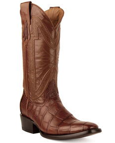 Ferrini Men's Stallion Western Boots - Narrow Square Toe, Cognac, hi-res
