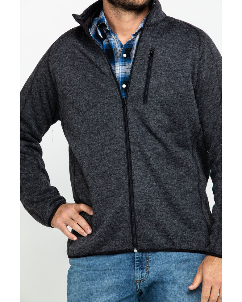 Stetson Men's Charcoal Fuzzy Bonded Sweater , Grey, hi-res