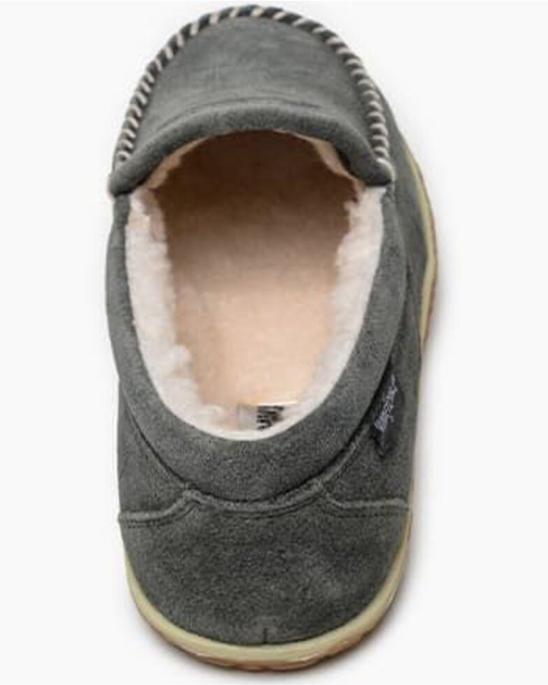 Minnetonka Men's Tilden Slippers - Moc Toe, Grey, hi-res