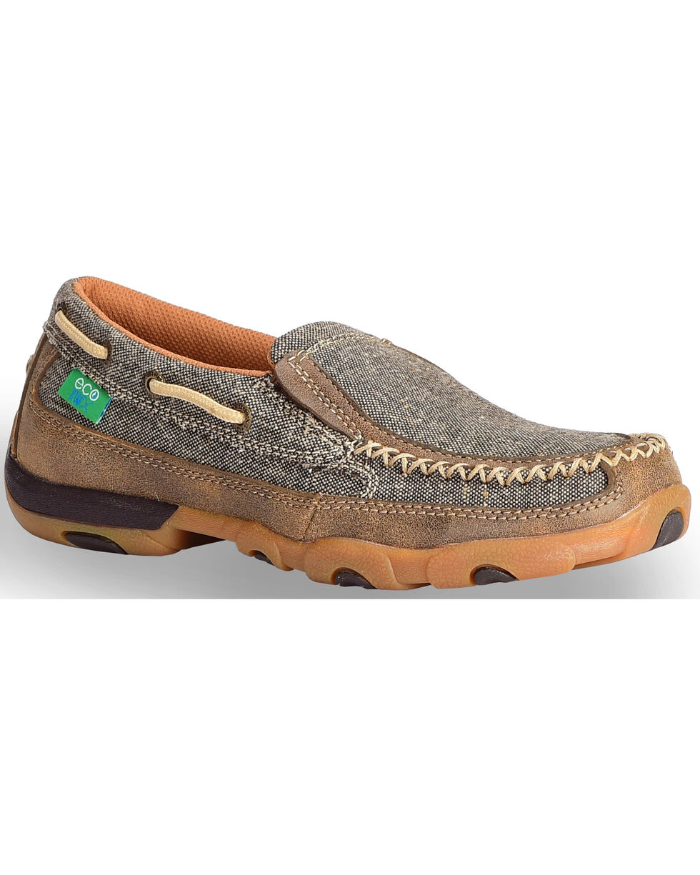 Twisted X Men's ECO TWX Slip-On Driving Moccasins - Moc Toe, Brown, hi-res