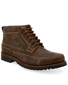"""Old West Men's 4"""" Lace-Up Outdoor Boots - Soft Toe, Brown, hi-res"""