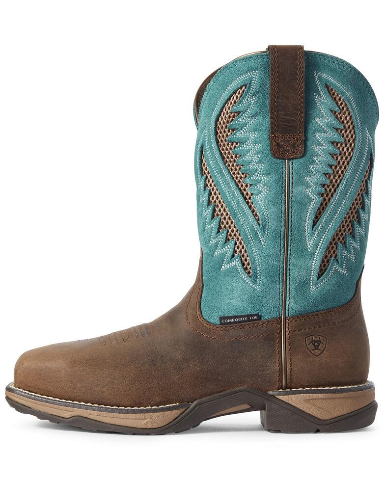 Ariat Women's Anthem VentTEK Western Boots - Composite Toe, Brown, hi-res