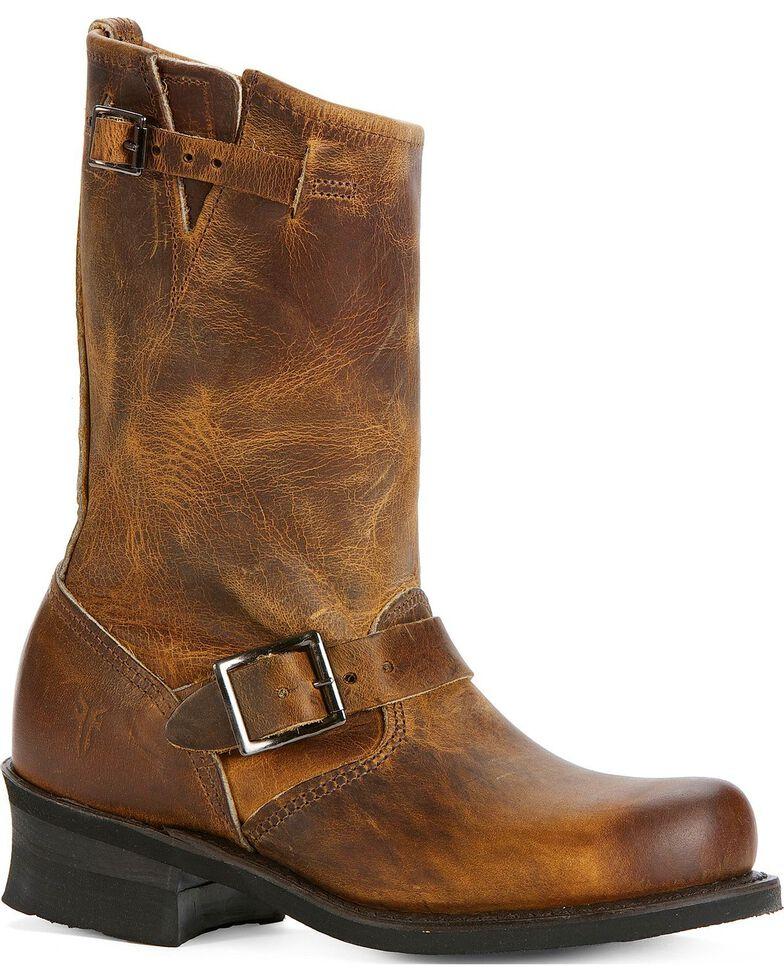 Frye Women's Engineer 12R Boots - Round Toe, Dark Brown, hi-res