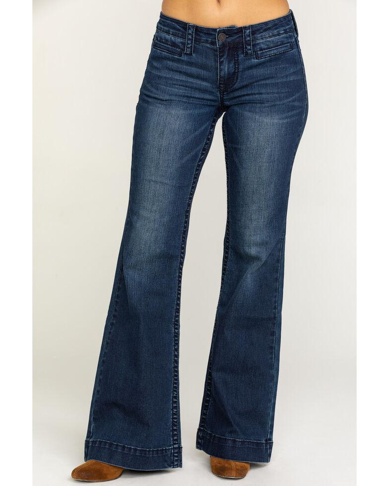 Shyanne Life Women's Dark Wash Trousers, Blue, hi-res