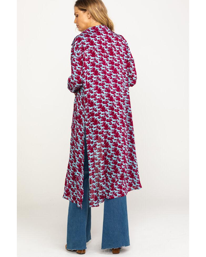 Roper Women's Stampede Print Kimono , Multi, hi-res