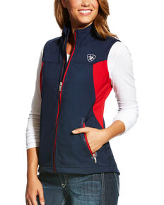 Ariat Women's Team Softshell Vest, Navy, hi-res