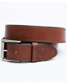 Hawx Men's Embossed Tip Brown Work Belt, Brown, hi-res