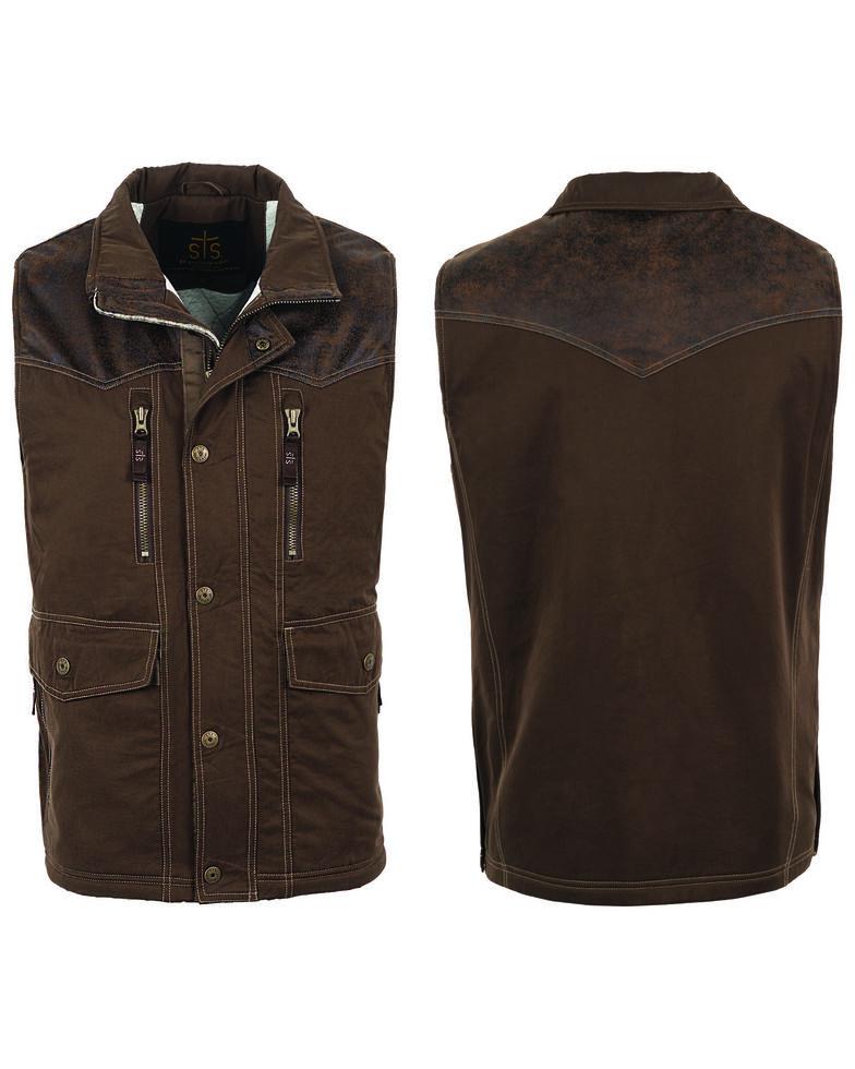 STS Ranchwear Men's Frisco Vest , Brown, hi-res