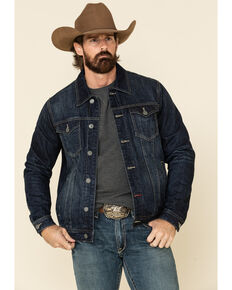 Panhandle Men's Dark Reflex Denim Jacket , Navy, hi-res